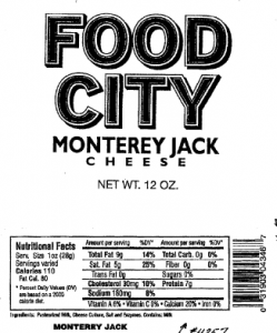 Food City Cheese Recall